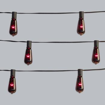 10' Edison-Style String Lights, Set of 2