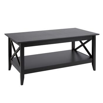 Milan Black X-Side Coffee Table