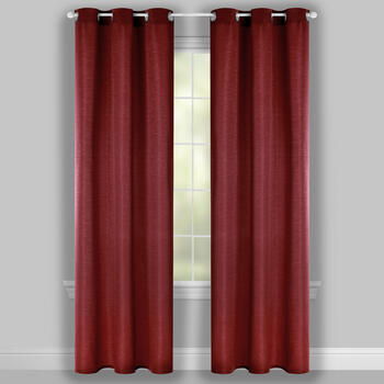 "84"" Solid Color Jacquard Grommet Window Curtains, Set of 2 view 2"