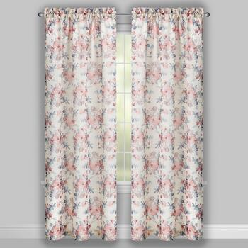 Perfect Window Blush Charlie Window Curtains, Set of 2 view 2