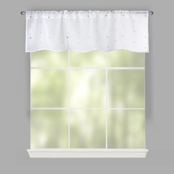 Nanni Embroidered Polka Dot Window Valances, Set of 2