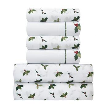 Mistletoe Embroidered Sheet Set