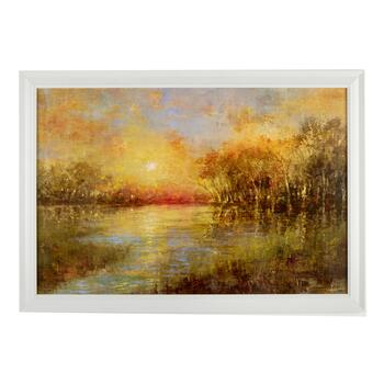 "24""x36"" River Sunset Wall Decor"