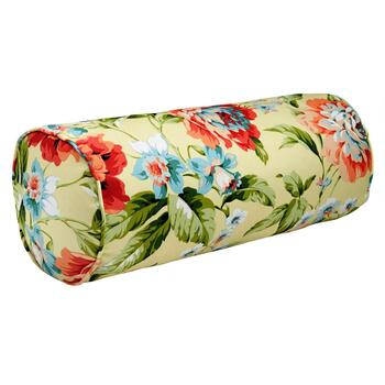 Garden Party Indoor/Outdoor Lumbar Roll Pillow