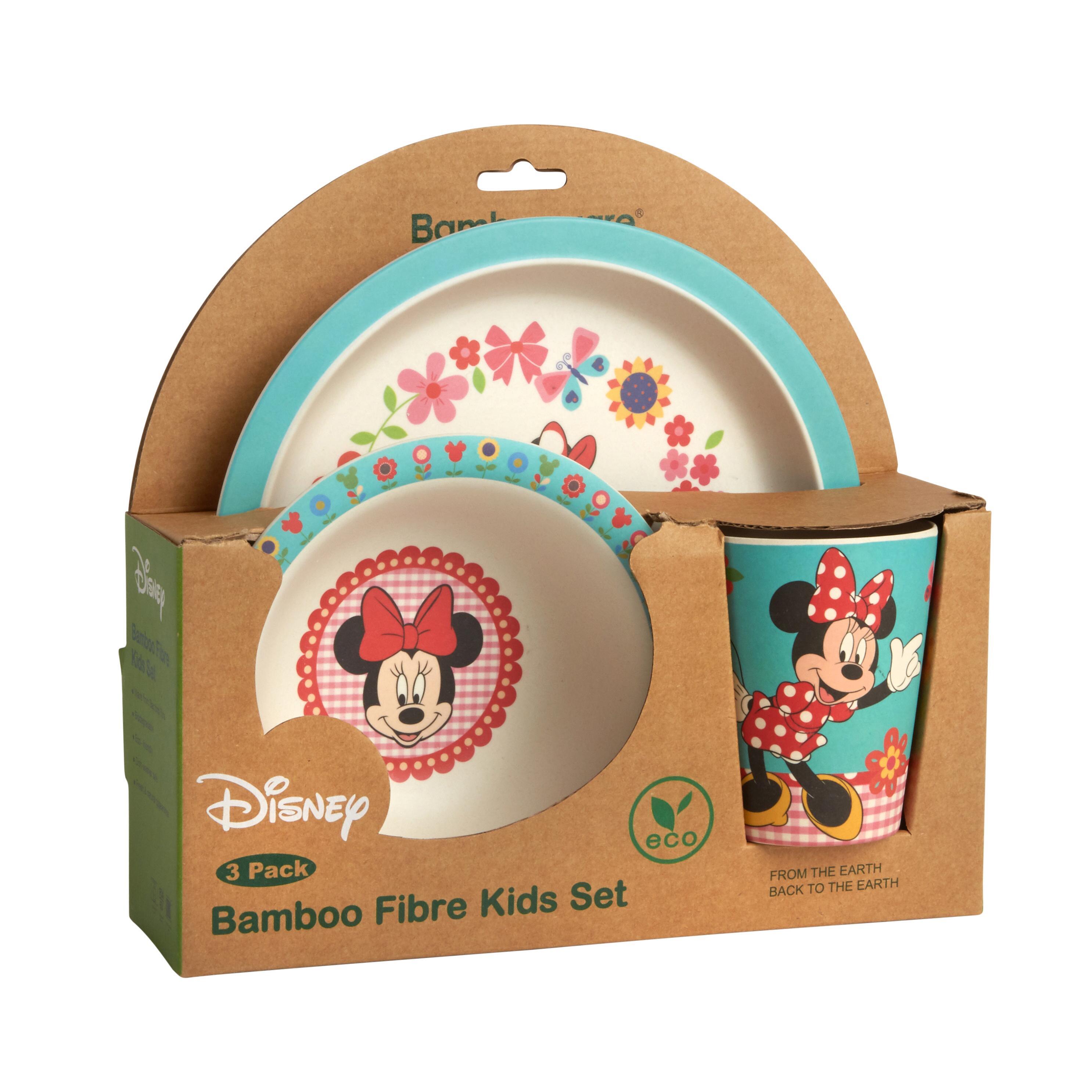 Multicolor Disney Mickey Celebrations Bamboo Dinnerware Set 3-Piece