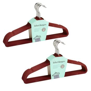 10-Pack Velvet Suit Hangers, Set of 2