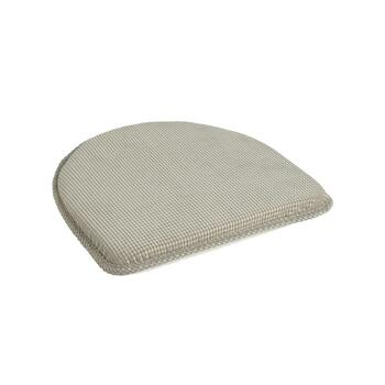 "15""x16"" Solid Textured Memory Foam Chair Pads, Set of 2"