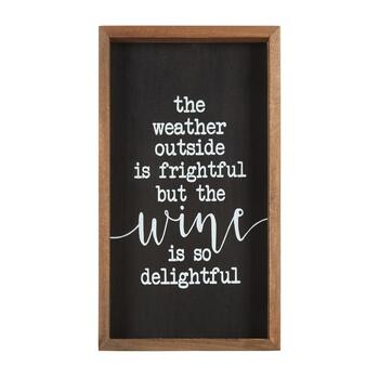 "8""x14"" ""Wine is So Delightful"" Wood Wall Decor"