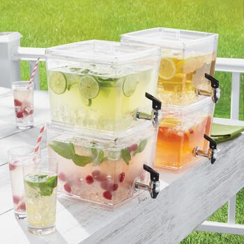 1.5-Gallon Stackable Beverage Dispenser