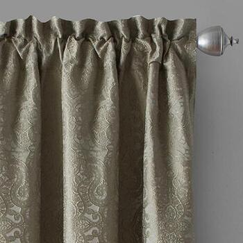 Light Green Katerina Patterned Window Curtains, Set of 2