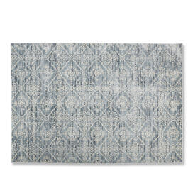 Petal and Stone™ Blue Damask Area Rug view 1