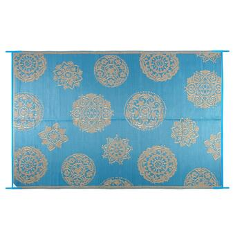 6'x9' Medallion Reversible All-Weather Patio Mat view 2