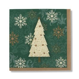 Green Snowflake Tree Lunch Napkins, 36-Count view 1