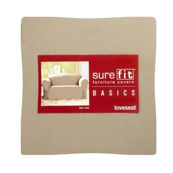 Terrific Sure Fit Solid Linen Cotton Loveseat Cover Creativecarmelina Interior Chair Design Creativecarmelinacom