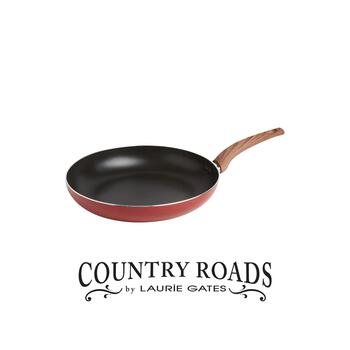 "Country Roads by Laurie Gates 12"" Red Speckled Frying Pan"