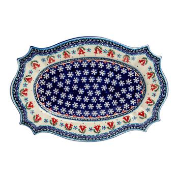 Polish Pottery Bells Turkey Serving Platter view 2