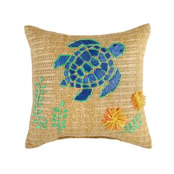 "Coastal Living Seascapes™ 18"" Turtle Indoor/Outdoor Throw Pillow"