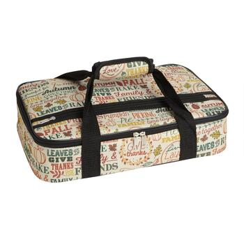 Harvest Typography Print Insulated Casserole Carrier