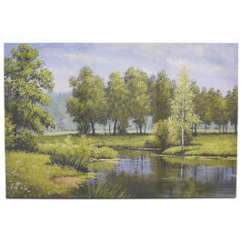 "24"" x 36"" Forest Lake Canvas Wall Art view 1"