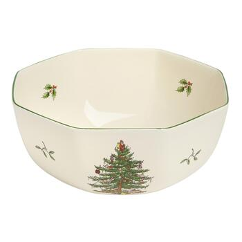 Spode® Octagonal Christmas Tree and Garland Bowl
