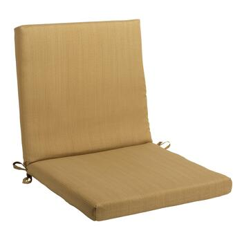 Solid Brown Indoor/Outdoor Mid-Back Chair Pad