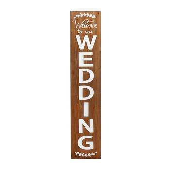 "59"" ""Welcome to Our Wedding"" Wooden Wall Decor"