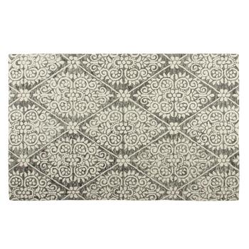 Dark Gray Diamond Wool Area Rug