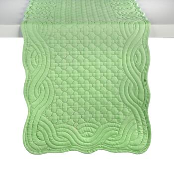 Quilted Solid Scalloped Table Runner