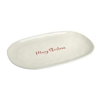 """Merry Christmas"" Oval Serving Platter"