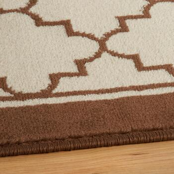 Beige Moroccan Printed Rug Set, 3-Piece view 2