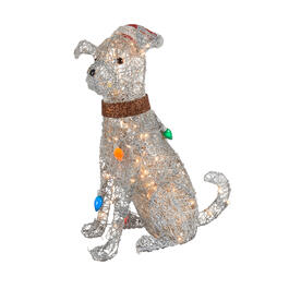 "30"" Glistening Lighted Christmas Dog view 1"