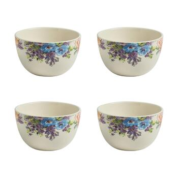 Country Roads Floral Cereal Bowls, Set of 4