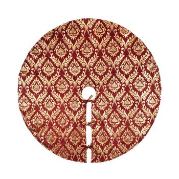 "24"" Foil Scroll Print Tree Skirt"