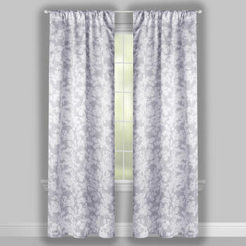 "84"" Floral Bunch Rod Pocket Window Curtains, Set of 2 view 2"