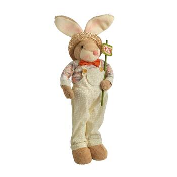 "28"" Standing Boy Bunny with ""Easter"" Sign"