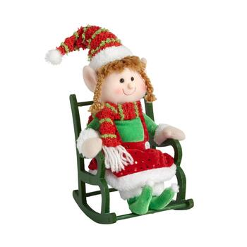 "14"" Girl Elf on Rocking Chair"