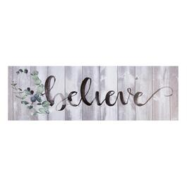 "18""x55"" ""Believe"" Canvas Wall Art"
