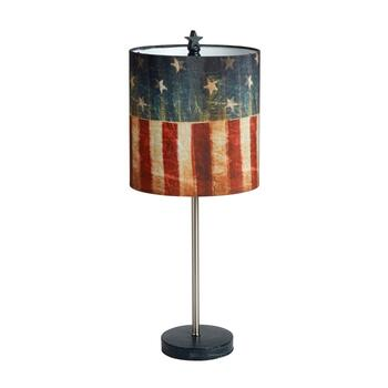 "21.75"" American Flag Stick Table Lamp"