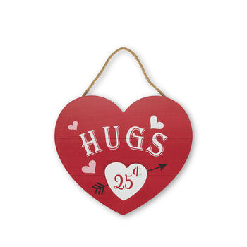 Hugs & Kisses Wood Wall Hanger view 1