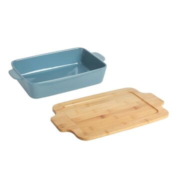 The Grainhouse™ Ceramic Baker with Bamboo Lid view 2