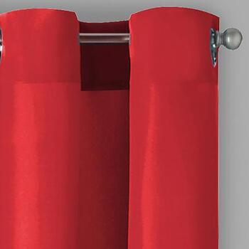 Solid Grommet Top Indoor Outdoor Curtains Set Of 2 Christmas Tree
