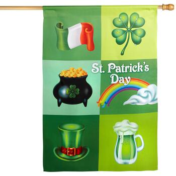 St. Patrick's Day Collage Flag