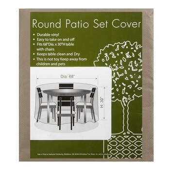 All-Weather Round Patio Set Cover