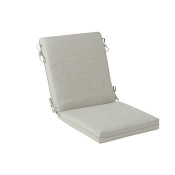Solid Gray Woven Indoor/Outdoor Hinged Chair Pad