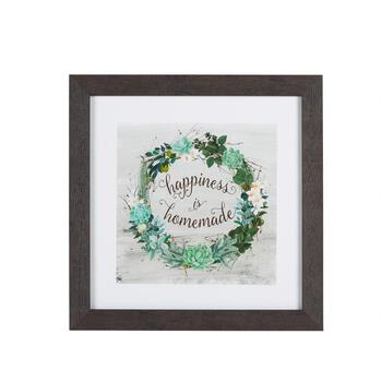 "15"" ""Happiness Is Homemade"" Framed Wall Decor"