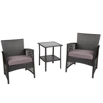 Aloha Resin Wicker Outdoor Furniture Set, 3-Piece