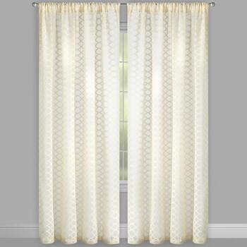 "84"" Layla Bombay™ Rod Pocket Window Curtains, Set of 2 view 2"
