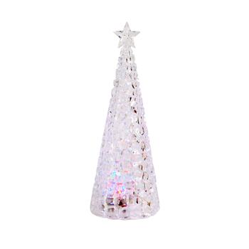 "13"" Clear Acrylic LED Christmas Tree"