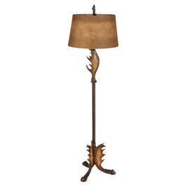 "65"" Rustic Lodge Antlers Floor Lamp"