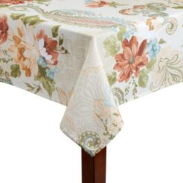 Floral Paisley Printed Microfiber Tablecloth